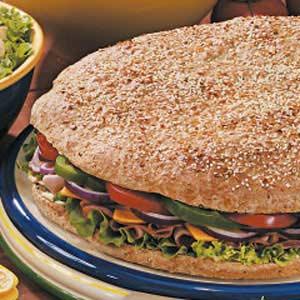 Giant Focaccia Sandwich Recipe