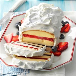 Red, White 'n' Blue Torte Recipe