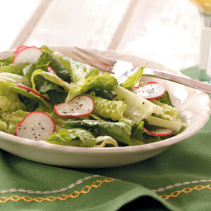 Greens with Vinaigrette Recipe