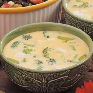 Cheesy Floret Soup Recipe