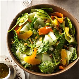 Ribbon Salad with Orange Vinaigrette Recipe