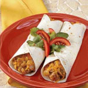 Pork 'N' Green Chili Tortillas Recipe