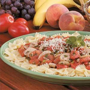 Tomato-Mushroom Bow Tie Pasta Recipe