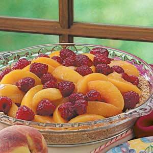 Cool Raspberry Peach Pie Recipe