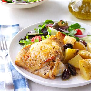 Greek-Style Lemon-Garlic Chicken Recipe