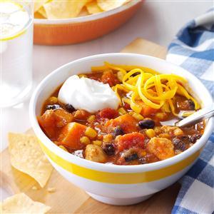 Slow Cooker Chicken & Sweet Potato Chili Recipe