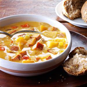 Ham & Potato-Rutabaga Chowder Recipe