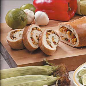 Herbed Vegetable Spiral Bread Recipe