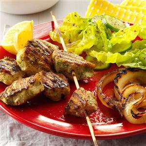 Cilantro & Lemon Marinated Chicken Kabobs Recipe