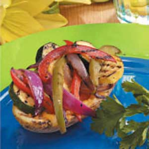 Grilled Vegetable Potato Skins Recipe