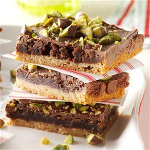 Pistachio Brownie Toffee Bars Recipe