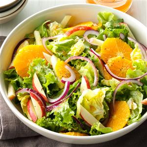 Mixed Greens with Orange-Ginger Vinaigrette Recipe