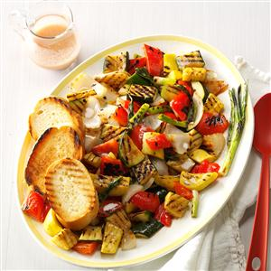 Grilled Veggies with Mustard Vinaigrette Recipe