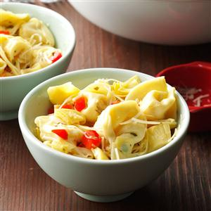 Tortellini Salad with Artichokes & Sweet Peppers Recipe