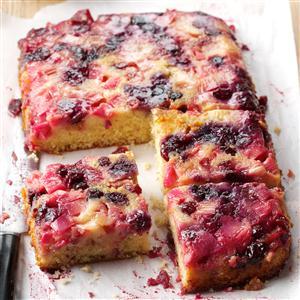 Rhubarb Berry Upside-Down Cake Recipe