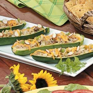 Asian Stuffed Zucchini Recipe
