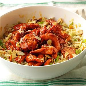 Asian Barbecue Chicken Slaw Recipe