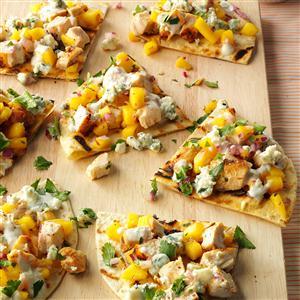 Grilled Chicken, Mango & Blue Cheese Tortillas Recipe