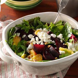 Roasted Beet Salad with Orange Vinaigrette Recipe