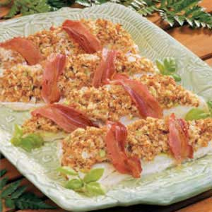 Stuffed walleye recipe taste of home for Walleye fish recipes