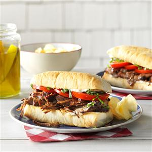 Balsamic Beef Hoagies Recipe