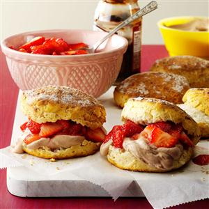 Chocolate Lover's Strawberry Shortcakes Recipe