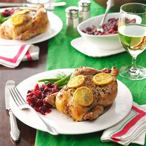 Lemon Herb Game Hens Recipe