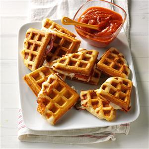 Waffle Iron Pizzas Recipe