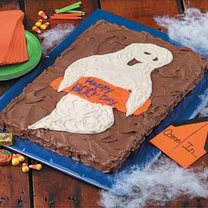 Ghostly 'Boo-Day' Cake Recipe