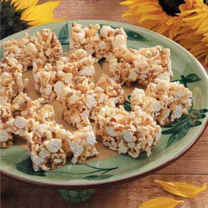 Sunflower Popcorn Bars Recipe