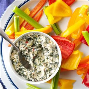 Sun-Dried Tomato Spinach-Artichoke Dip Recipe