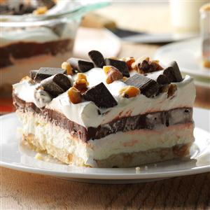 Easy four layer chocolate dessert recipe taste of home easy four layer chocolate dessert recipe forumfinder Images
