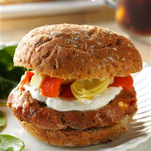 Sun-Dried Tomato Burgers Recipe