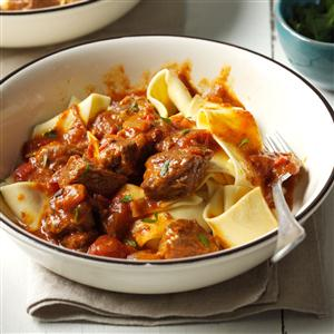 Beef Paprikash with Fire-Roasted Tomatoes Recipe