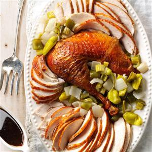 Creole Roasted Turkey with Holy Trinity Stuffing Recipe