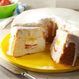 Cooling Off Angel Food Cake