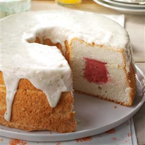 Sherbet-Filled Angel Food Cake Recipe