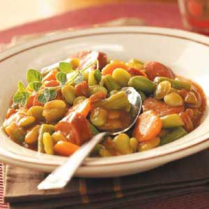 Sweet Sausage 'n' Beans Recipe