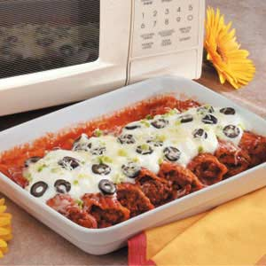 Microwave Mexican Manicotti Recipe