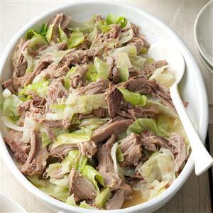 Slow Cooker Kalua Pork & Cabbage Recipe