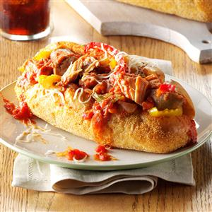 Slow Cooker Sausage Sandwiches Recipe