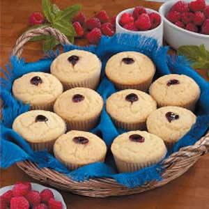 Raspberry Corn Bread Muffins