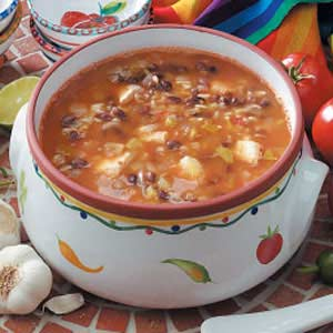 Black Bean And Chicken Soup Recipe Taste Of Home