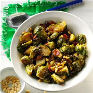 Roasted Balsamic Brussels Sprouts with Pancetta Recipe