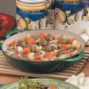 Onion Meatball Stew Recipe