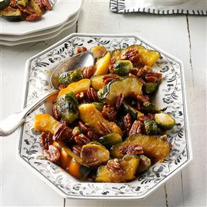 Roasted Acorn Squash & Brussels Sprouts Recipe