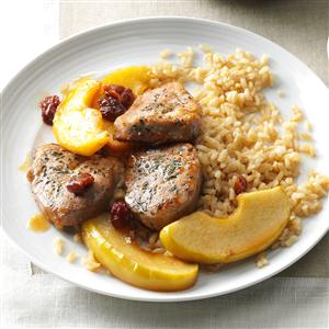 Apple-Cherry Pork Medallions Recipe