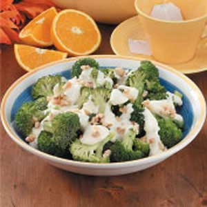 Broccoli With Orange Cream Recipe