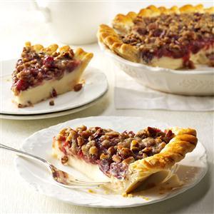 Cranberry Cheese Crumb Pie Recipe