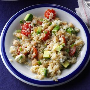 Avocado & Garbanzo Bean Quinoa Salad Recipe